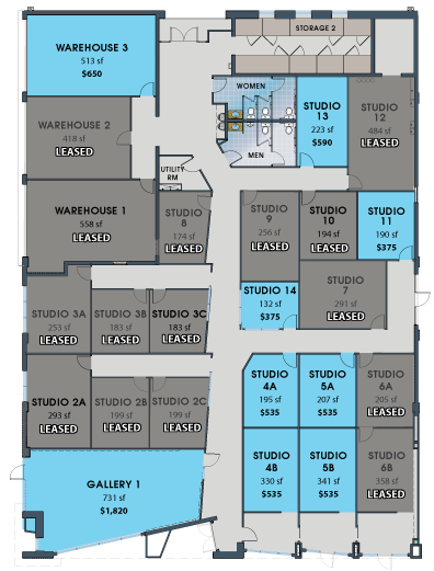 Map of Available Units at M Street